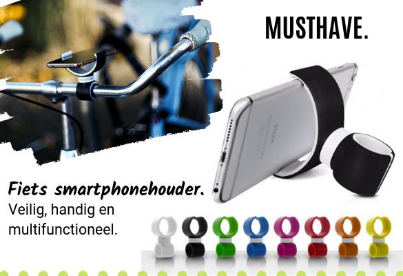 Geen boete op de fiets? Gebruik deze smartphonehouder!